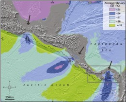 How high was the Isthmus of Panama?