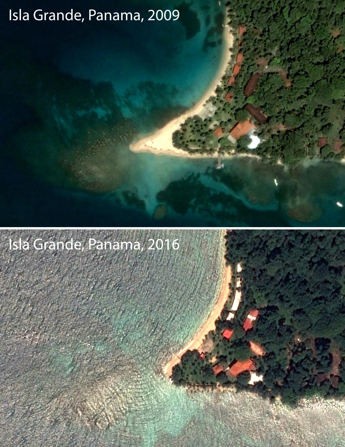 isla grande donde se fue la playa
