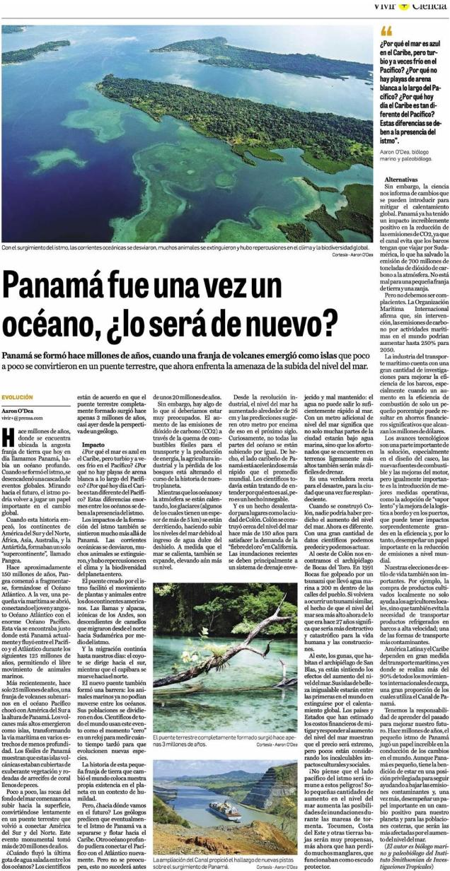 O'Dea 2018 Panama era Mar 17 December La Prensa